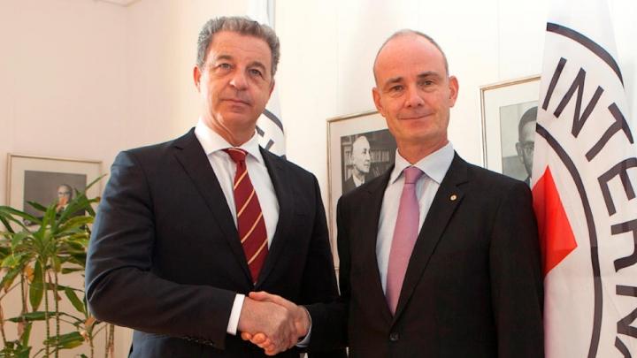 Tužilac Serge Brammertz  i potpredsednik MKCK, Gilles Carbonnier