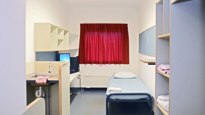 Ćelija u Pritvorskoj jedinici Ujedinjenih nacija u Haagu.
